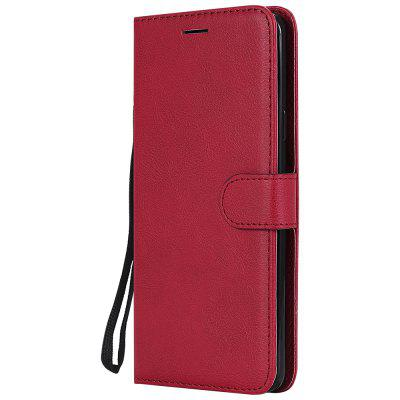 Plain PU Leather Wallet Case for Samsung Galaxy S9 Plus Card Slots Flip Cover