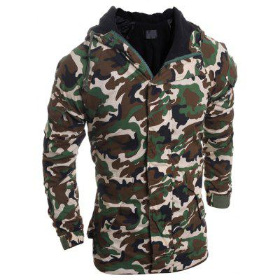 Men's Camouflage Fashion Casual Hooded Coat
