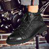 High-Top Fashion Cotton-Padded Shoes - BLACK