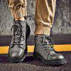 High-Top Fashion Cotton-Padded Shoes - BATTLESHIP GRAY