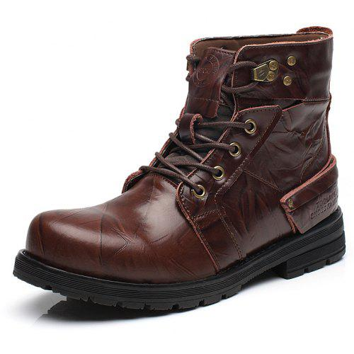 cbb85c7b07b Men Leather High-Top Non-Slip Wear-Resistant Tooling Boots