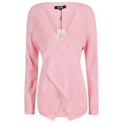 Купить KISSMILK Womenamp;#39;s Wrapped Loose Casual Solid Color Sweater Pink