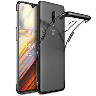 Transparent Slim Electroplate Plating TPU Case for Oneplus 6T