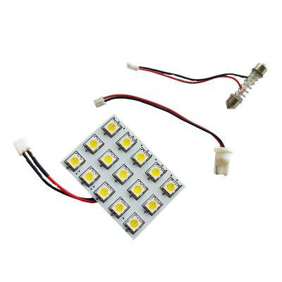 OMTO 15 SMD 5050 LED Auto Dome Panel Light Car Interior Reading Lamp Roof Bulb