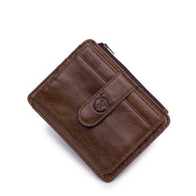 First Layer Cowhide Men's Multi-Card Commercial Bank Card Package