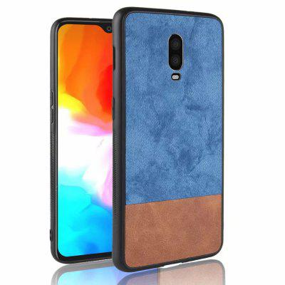 Silicone Edge Leather Fabric Shockproof Cover Case for Oneplus 6T