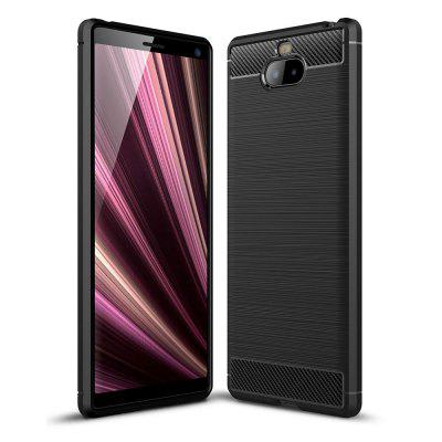 Luxury Carbon Fiber Soft Case for Sony Xperia 10