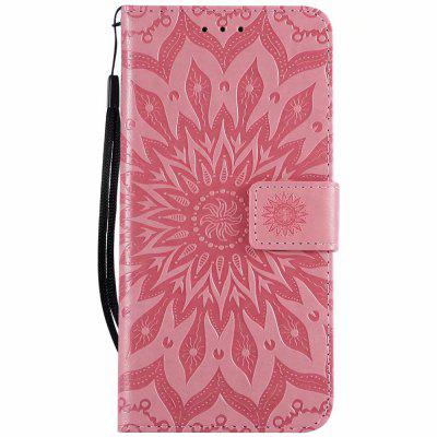 Wallet Case For Xiaomi Redmi 6 Pro Embossing Sunflower Leather Cover Card Cover