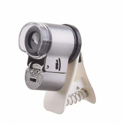 65X Zoom LED Clip-On Microscope Magnifier Micro Lens