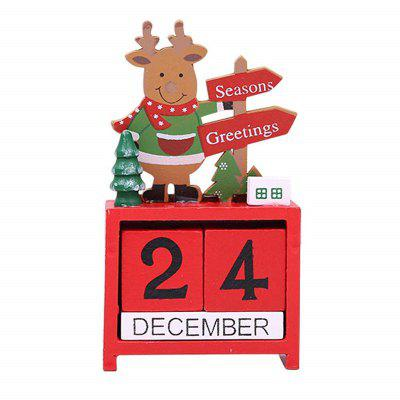 Wooden Christmas Tree Calendar Building Toy