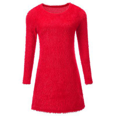 Plush Long Sleeved Mini Dress