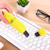 Mini USB Computer Keyboard Vacuum Cleaner With Brush Crevice Cleaning Dust - AMARILLO