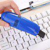 Mini USB Computer Keyboard Vacuum Cleaner With Brush Crevice Cleaning Dust - BLU
