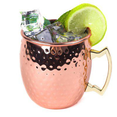Hammered Moscow Mule Copper Plated Mugs 304 Stainless Steel 550ml Beer Drinkware