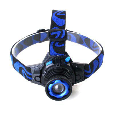 ZHISHUNJIA K16-XPE Q5 400lm 3-Mode White Rechargeable Headlamp - Black + Blue