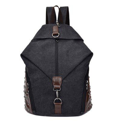 Backpacks Unisex Canvas Computer Bag With Buckle Buckle Backpack Crazy Horse Leather Large Capacity Backpack Tide Student Leisure Bag Complete In Specifications Women's Bags