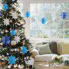 7 Color Snowflake Card Paper Hanging Decoration 6 Pieces XH0204 - PLATINUM