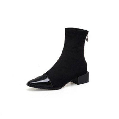 Autumn and Winter Fashion Pointed Thick with Small Boots Women'S Boots