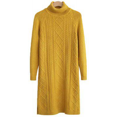 Women's Long Sleeve Leisure Sweater Dress