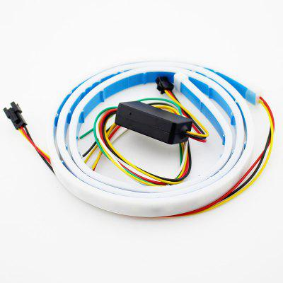Colorful RGB Car LED Waterproof Vehicle Rear Trunk Turn Signal Lamp Tail 1.2M