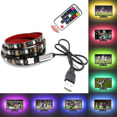 OMTO LED USB Strip 5050 RGB TV Backlight Flexible Fény Tape 17Key RF vezérlő