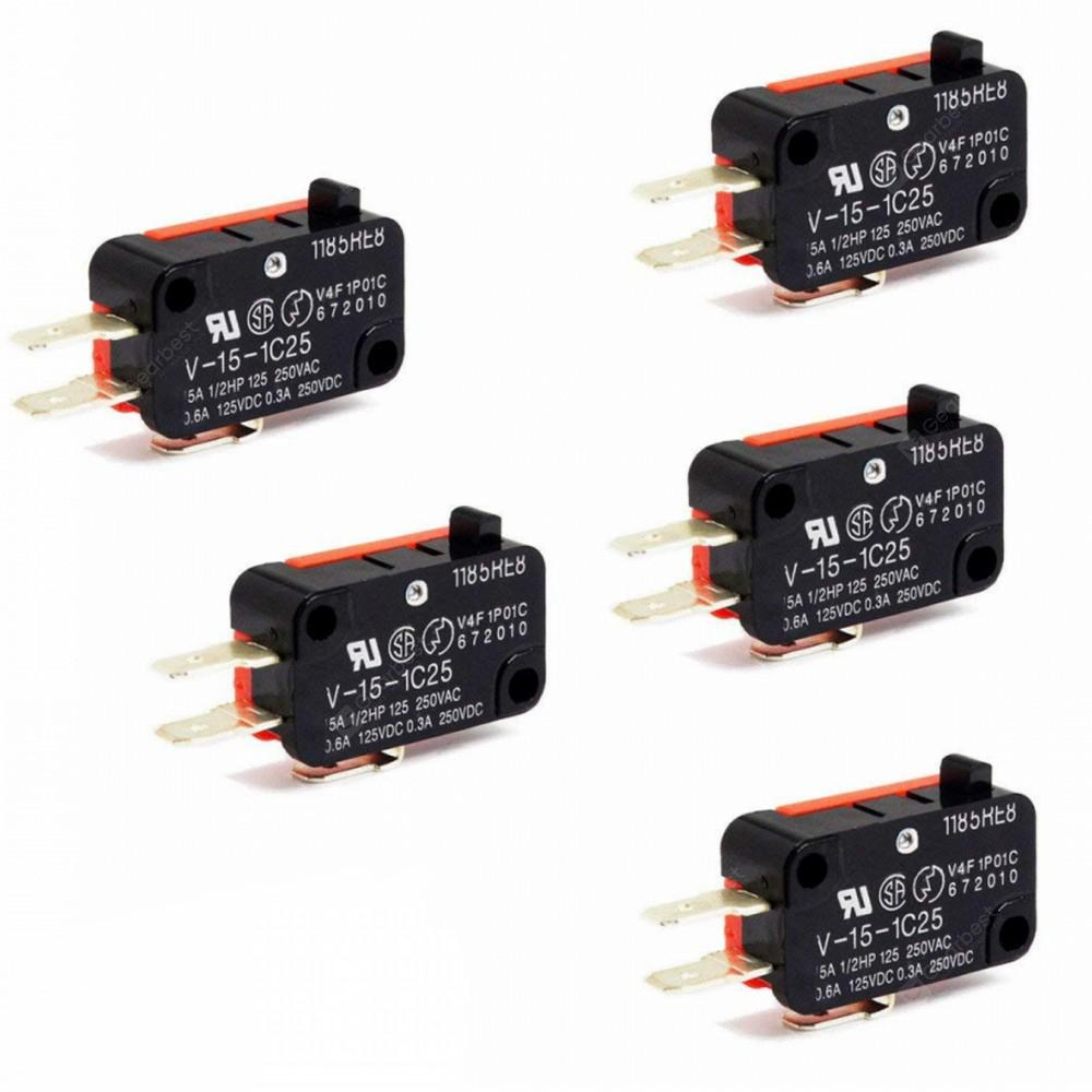 AC 250V 15 Amp Micro Limit Switch Button SPDT Momentary Snap Action CNC