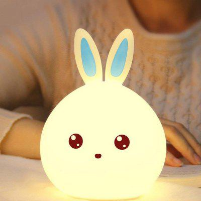 Soft Silicone Rechargeable LED Kids Night Light Adorable Rabbit Nursery Light