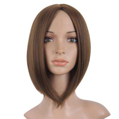 Short Straight Wigs Black Brown Natural Middle Long Hair For Women