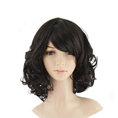 Short Curly Black Wig Natural Wigs For Women Heat Resistant Synthetic Hair P