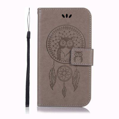 Owl Pattern Embossed Mobile Phone Case Protective Cover for Samsung J2 Core 2018
