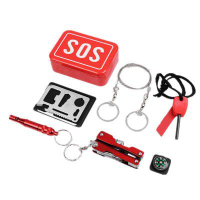SOS Outdoor Camping Self-Help Survival Equipment Multi-Tool Kit