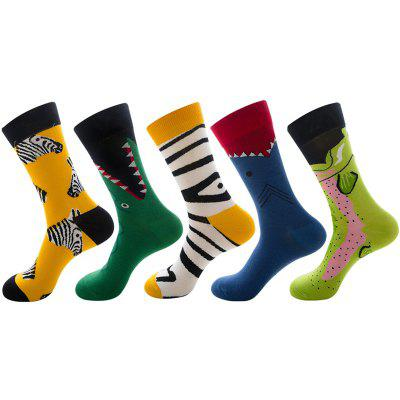 Fashion Colorful Animal Series Men's Socks 5 Pairs