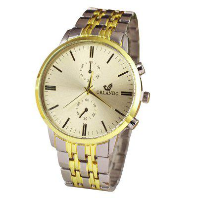 Luxury Orlando Stainless Steel Watches Men Business Quartz Wrist Watch