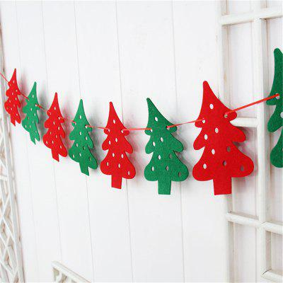 Christmas Decoration Flag DIY Christmas Flag Banner Christmas Tree Decoration Ho