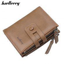 Baellerry Leather Men Wallet Fashion Short Purse with Coin pocket Vintage Wallet