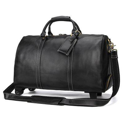 Leather 21 inch Rod Durable Luggage Bag
