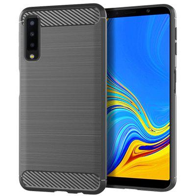 for Samsung Galaxy A7 2018 Brushed Silicone Shatter-resistant Case