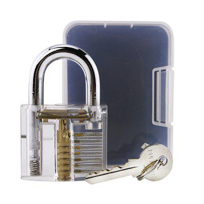 LOCKMALL Locksmith Pick Skill Training Practice Padlock