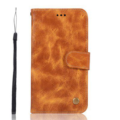 for MOTO E5  Vintage Pattern Solid Color Phone Protective Case