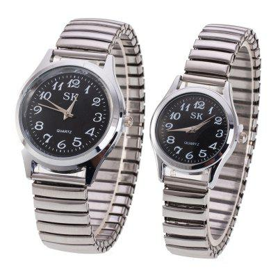 Fashion Spring Steel Band Simple Digital Scale Universal Lovers Watch