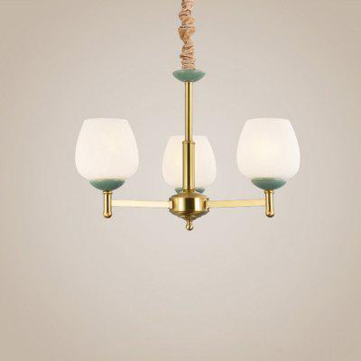 HZ-042 Simple All Ceramic 3 Head Chandelier