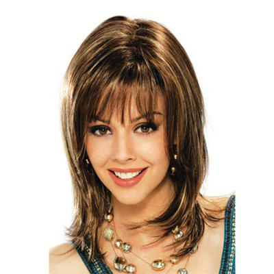 Fashion Women with Short Hair Light Golden Brown High Temperature Wig