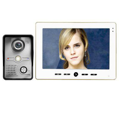 10 Inch Video Door Phone Doorbell Intercom Kit 1-camera 1-monitor Night Vision