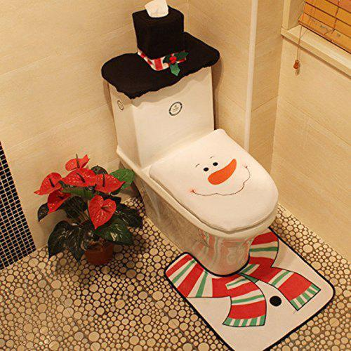 Magnificent Christmas Snowman Toilet Seat Cover Commode Set For Bathroom Christmas Decoratio Pabps2019 Chair Design Images Pabps2019Com