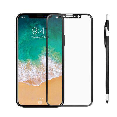 SZKINSTON Tempered Glass Screen Protector Film Capacitive Pen für iPhone XS / X