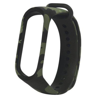 Camouflage Silicone Replacement Wristband Watch Strap for Xiaomi Mi Band 3