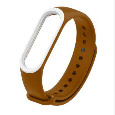Double-color Replacement Silicone  Strap Wristband for Xiaomi Mi Band 3