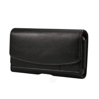 Black Holster Leather Belt Clip Phone Pouch Bag Case 5.5 Inch Card Holder Cover