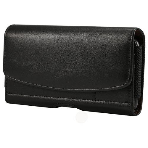 timeless design 9dbb4 25d24 Horizontal PU Leather Case Belt Clip Bag 5.2 Inch Phone Cover with Card  Holder