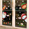 Cartoon Santa Claus Wall Stickers - MULTI